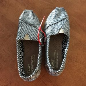 TOMS Metallic Woven Herringbone Slip-on